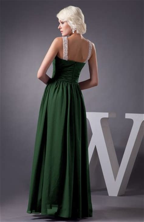 hunter green chiffon bridesmaid dress country chic summer