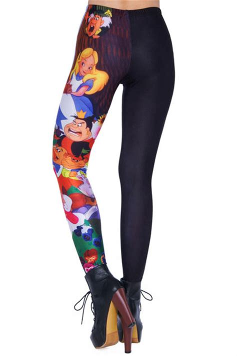 fantasy fiction inspired tights alice  wonderland leggings