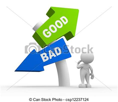 clip art  good  bad  people man people standing