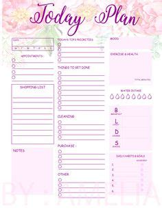 goal setting template images printable planner