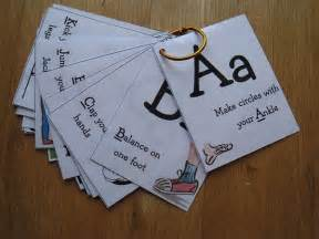 Alphabet Movement Cards