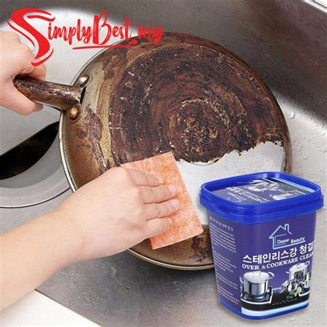 simplybest  oven cookware cleaner stainless steel copper cleaning paste remove stains