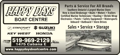 Boat Shrink Wrap Windsor Ontario by Happy Days Boat Centre Opening Hours 1475 Cabana Rd E