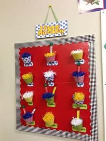 Preschool Classroom Birthday Display