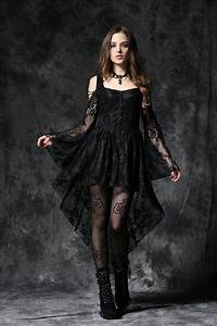 Dw053 bk gothic gothic ghost dovetail lace dress with for Robe romantique dentelle
