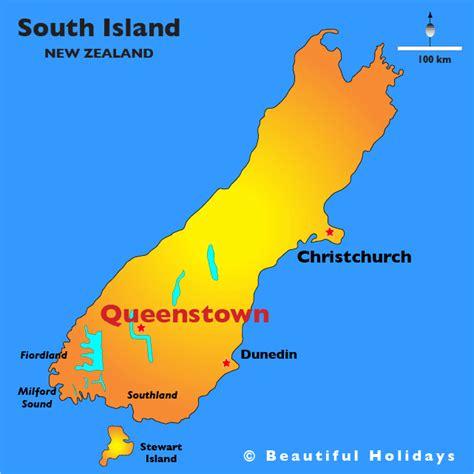 queenstown  zealand map toursmapscom