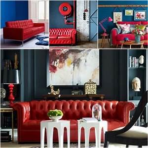 Mur Bleu Pétrole : quelle peinture quelle couleur autour d 39 un canap rouge clem around the corner ~ Melissatoandfro.com Idées de Décoration