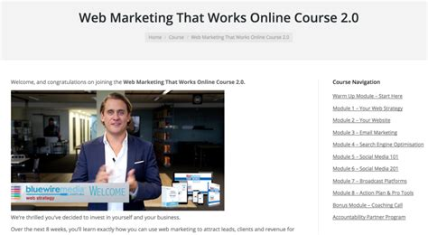 web marketing course web marketing that works course