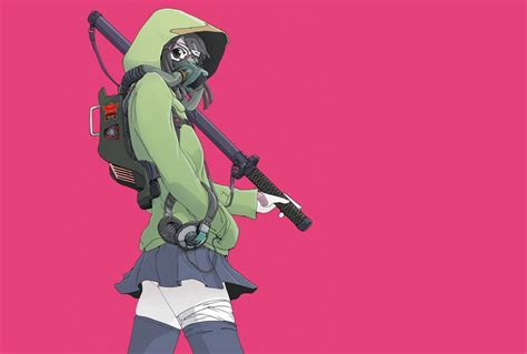 Original Anime Wallpaper - anime anime original characters gas masks