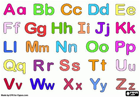 El abecedario español en minuscula Imagui Letras