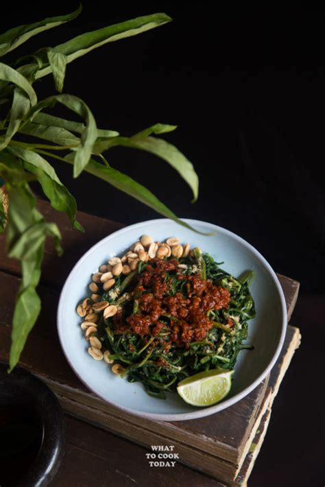 lombok plecing kangkung water spinach  sambal