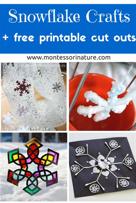 snowflake crafts  kids   printable cut outs