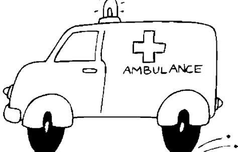Kleurplaat Ziekenauto by Kleurplaat Ambulance Kleurplaatje Nl