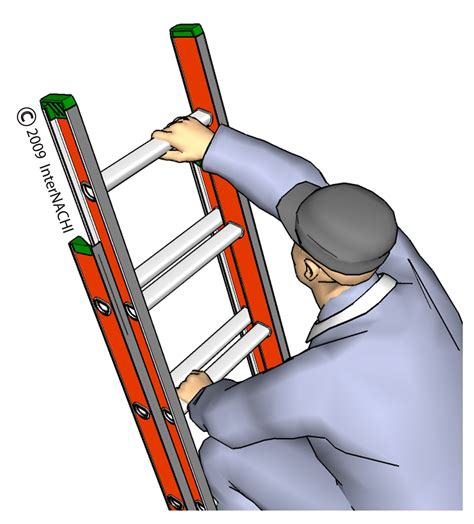internachi inspection graphics library roofing 187 general 187 climbing ladder jpg