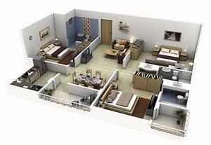 3 bedroom apartment house plans With marvelous maison sweet home 3d 16 plan de maison 60m2 3d