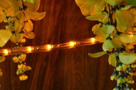 led lichtschlauch lichterschlauch gelb innen aussen