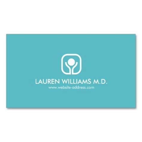 health  wellness logo  aqua business card zazzle