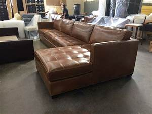 Arizona xl leather sectional in brompton classic vintage for Sectional sofa xl