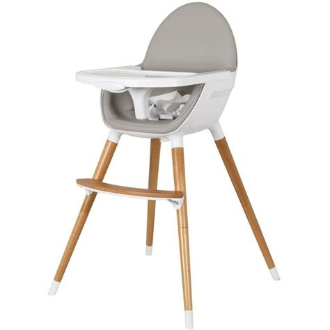 Childcare Baby High Chair W Timber Legs In White Buy