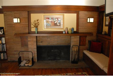 family room fireplaces frank lloyd wright and prairie arhictecture in