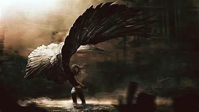 Angels Wings Artwork Angel Fallen Female Woman