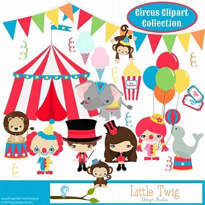 Circus Clip Clipart Theme Monkey Circo Seal