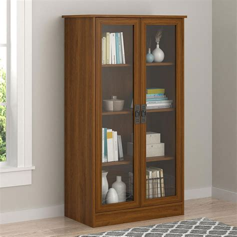 tall bookcase  glass doors  bookcases
