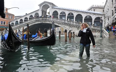 Venice Under Water During High Tide Flooding Travel