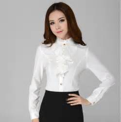White Blouses Women Long Sleeve Shirts