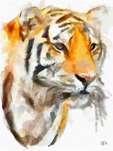 The tiger | Digital watercolor. Dynamic Auto-Painter ...