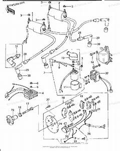 Kawasaki Motorcycle 1979 Oem Parts Diagram For Ignition