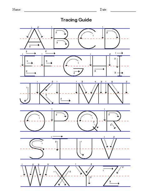 abc tracing sheets preschool worksheets   images