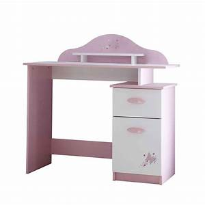 Bureau Enfant Blanc : bureau enfant butterfly 100cm rose blanc ~ Teatrodelosmanantiales.com Idées de Décoration