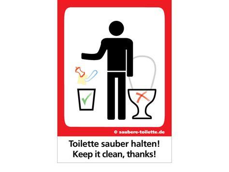 Bilder Für Die Toilette by Quot Kein M 252 Ll In Toilette Quot Aufkleber Saubere Toilette