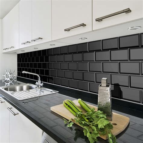 black brick tiles kitchen black brick kitchen tiles tile design ideas 4651