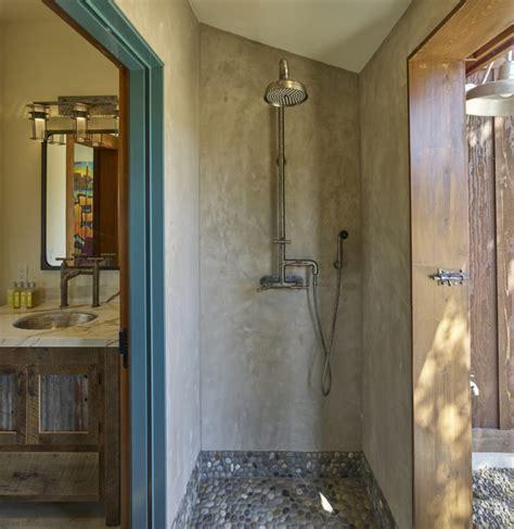 indoor outdoor shower fine homebuilding