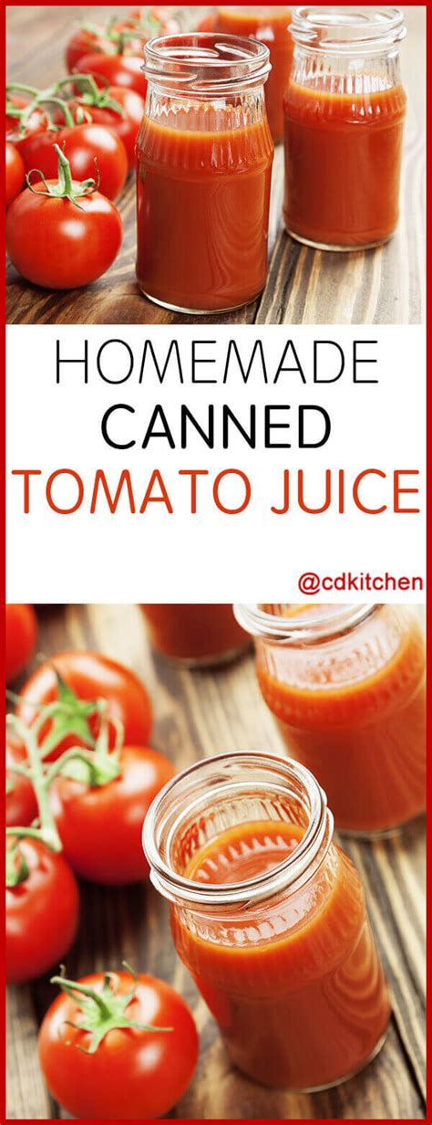tomato juice canning recipe recipes cdkitchen tomatoes canned homemade sugar