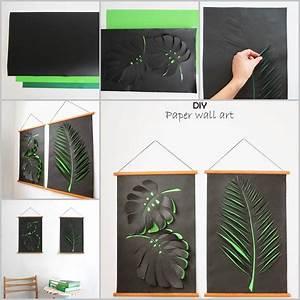 Creative ideas diy paper leaf wall art