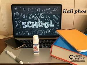 Cell Salt Series: Back to School Means Kali phos