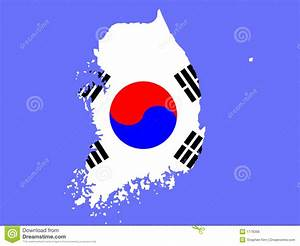 Map Of South Korea Stock Vector  Illustration Of Seoul