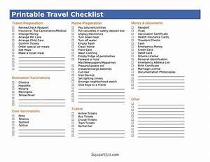 5 best images of international travel checklist printable