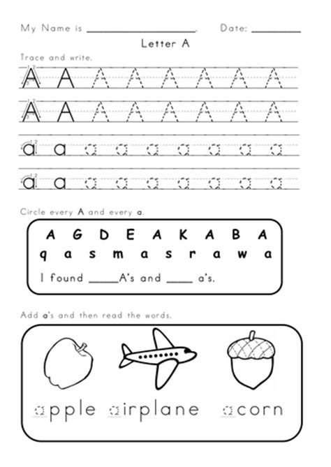 letter s and a worksheets by vigunya teaching