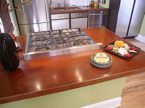 poured concrete countertops trending kitchen countertop materials for your home hometone