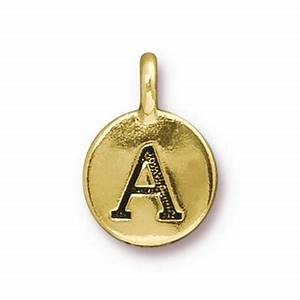 gold plated letter charms and number charms jewelry With gold plated letter charms