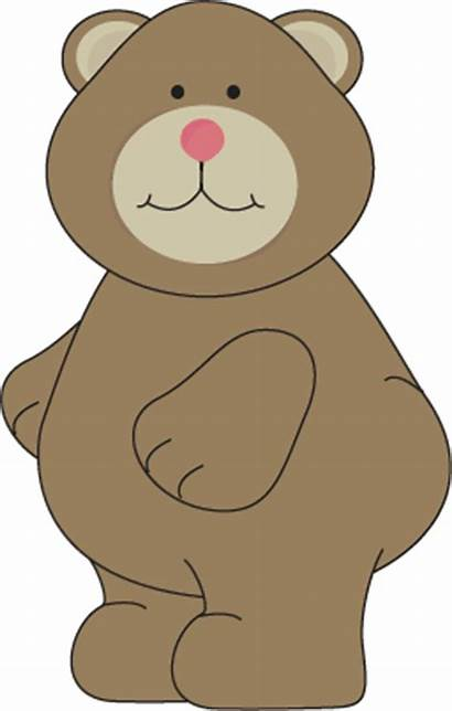 Bear Clipart Brown Clip Cliparts Nose Graphics