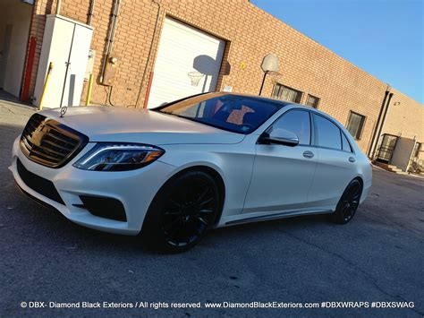 project  mercedes benz  wrapped  satin pearl