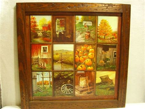 B Home Interiors : Vintage Homco Home Interior B Mitchell Window Pane Picture