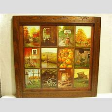 Vintage Homco Home Interior B Mitchell Window Pane Picture