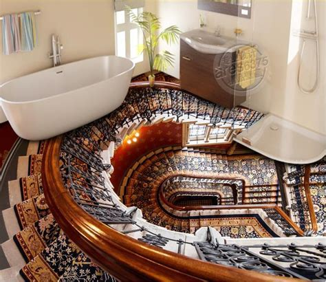 custom 3d stereoscopic vinyl flooring adhesives stairs 3d