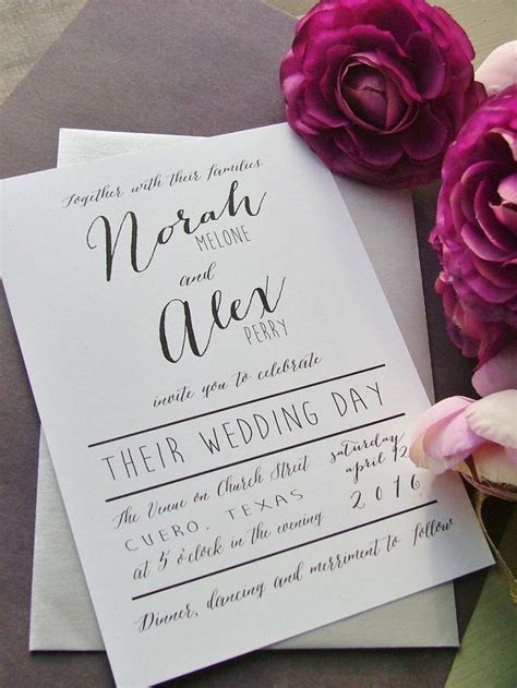 popular wedding invitation wording diy templates ideas